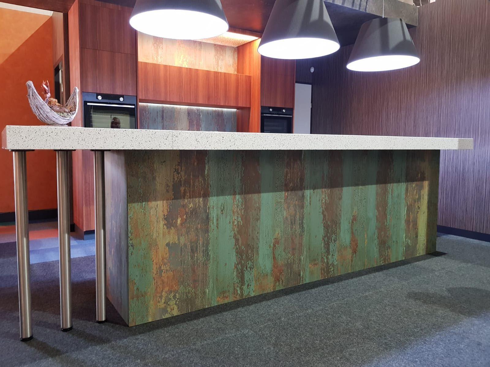 DecoLegno-HPL Specials-forest green - keuken 3
