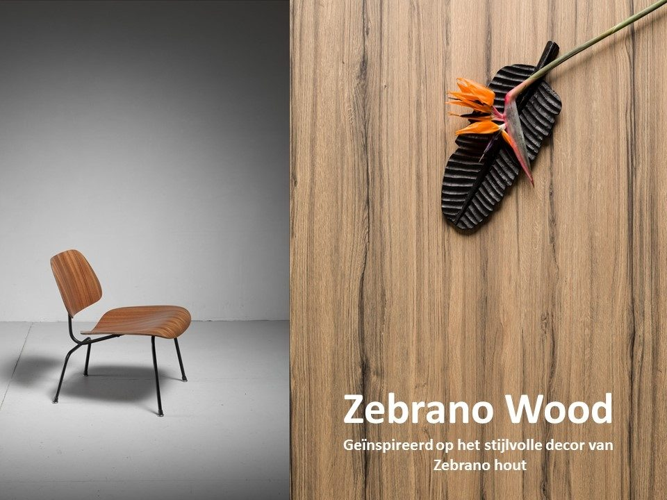 DecoLegno HPL Specials - Zebrano Wood moodboard