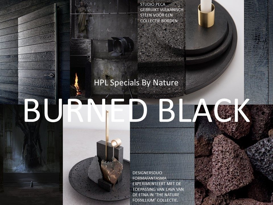 Moodboard HPL Spcials - Burned Black