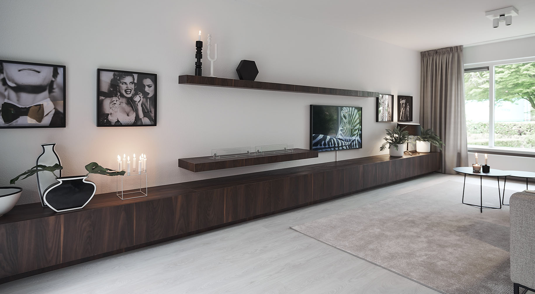 dressoir met bijpassende wandplanken