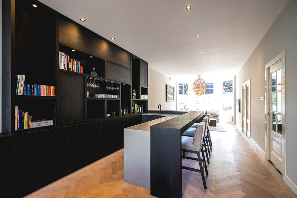 Wagenaar Woodworks kantoorpand keuken