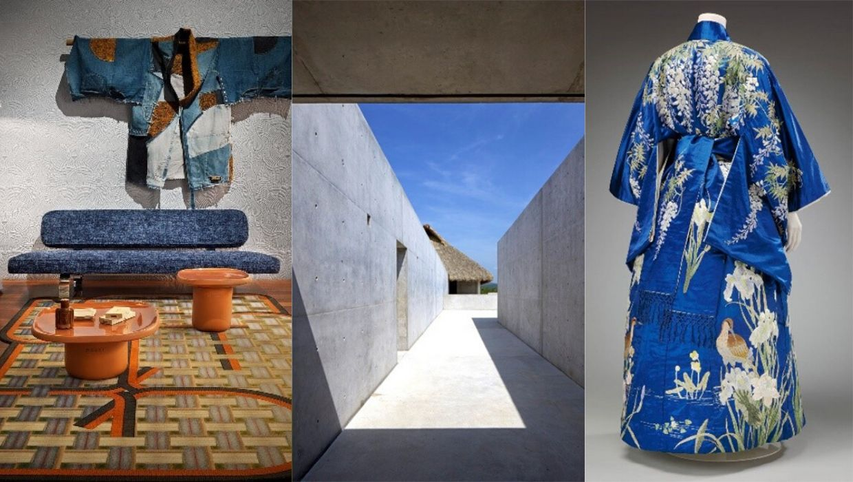Inspiratiebeelden Japan blauwe kimono's