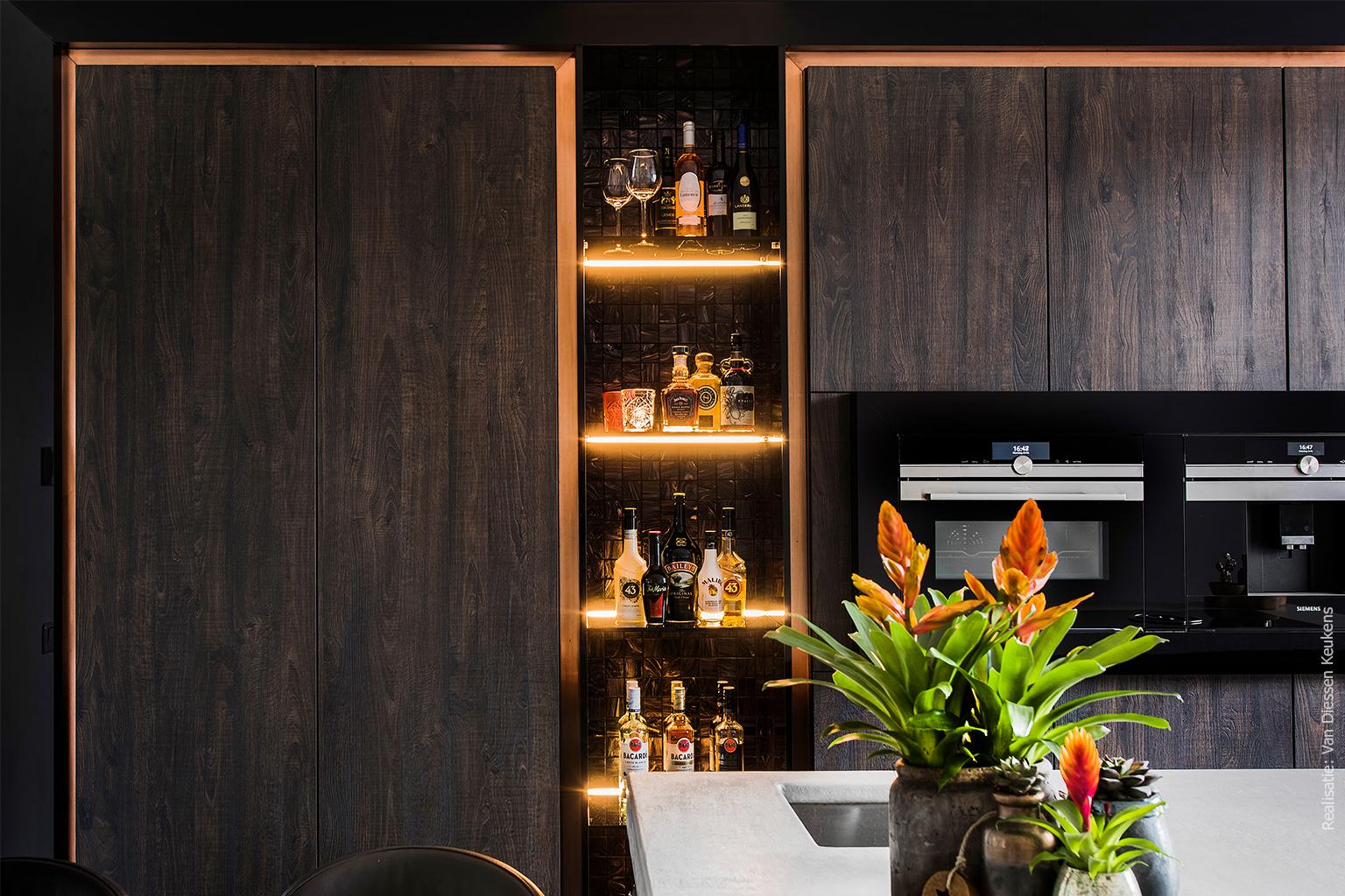 Maatwerk keuken Sherwood hout plaatmateriaal
