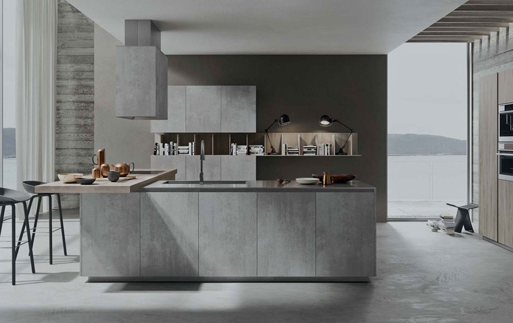 Keuken in FB02 Concreta